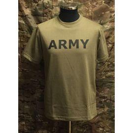 RAVEN - T-shirt, MTS-khaki - med ARMY tryk