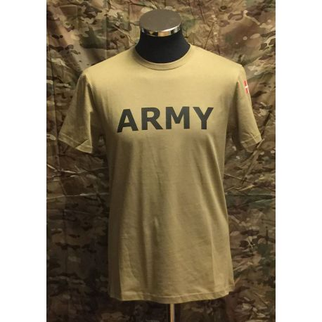 MLV - T-shirt med ARMY og Dannebrog, MTS-Khaki