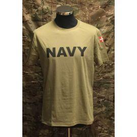 MLV - T-shirt med NAVY og Dannebrog, MTS-Khaki