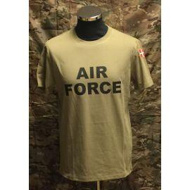 MLV - T-shirt med AIRFORCE og Dannebrog, MTS-Khaki