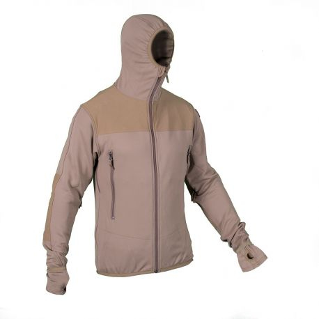 MLV - Tactical Tight Fleece (TTF), med hætte, MTS-Khaki