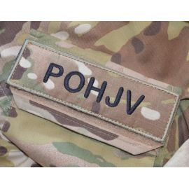 POHJV Patch, MultiCam on velcro - Small Text