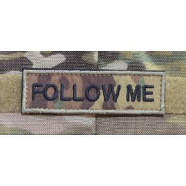FOLLOW ME Patch , Stor - MultiCam med velcro
