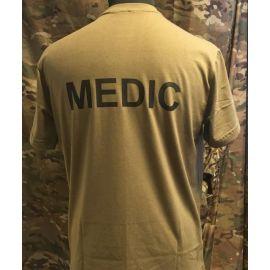 RAVEN - T-shirt, MTS-khaki - med MEDIC tryk
