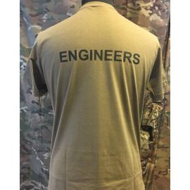RAVEN - T-shirt, MTS-khaki - med ENGINEERS tryk