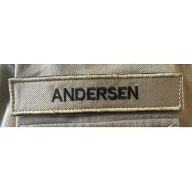 4 stk. Nametape on velcro - MTS-Khaki with black text