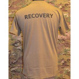 RAVEN - T-shirt, MTS-khaki - med RECOVERY tryk