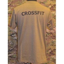 RAVEN - T-shirt, MTS-khaki - med CROSSFIT tryk