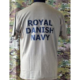 RAVEN - T-shirt, MTS-khaki - med ROYAL DANISH NAVY tryk