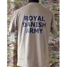 LANCER - T-shirt, MTS-khaki - med ROYAL DANISH ARMY tryk