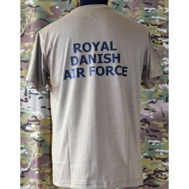 RAVEN - T-shirt, MTS-khaki - med ROYAL DANISH AIR FORCE tryk