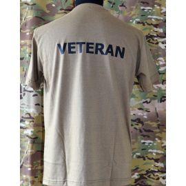RAVEN - T-shirt, MTS-khaki - med VETERAN tryk