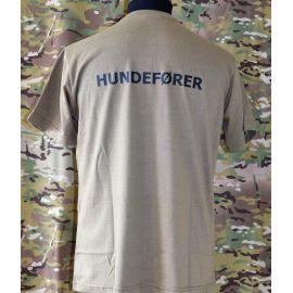 RAVEN - T-shirt, MTS-khaki - med HUNDEFØRER tryk