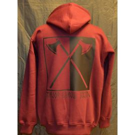 Major League Viking - Hoodie with Axes, Bordeaux/black