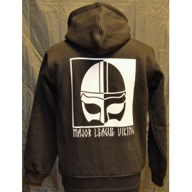 Major League Viking - Hoodie with Helmet, Black/white