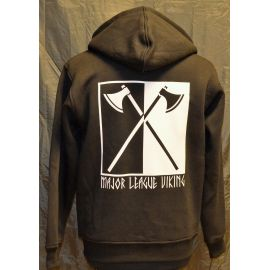 Major League Viking - Hoodie med Økser, Sort/Hvid