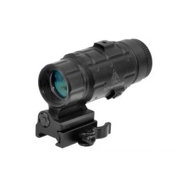 UTG - 3X Magnifier with Flip-to-side QD Mount, W/E Adjustable