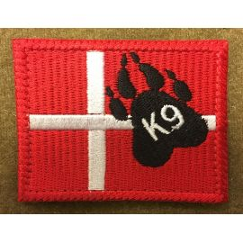Dannebrog K9, big - On velcro