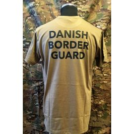 RAVEN - T-shirt, MTS-khaki - med DANISH BORDER GUARD tryk