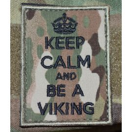 KEEP CALM and BE A VIKING - MultiCam med velcro