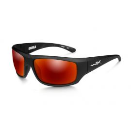 Wiley X - OMEGA Polarized Crimson Mirror Matte Black Frame