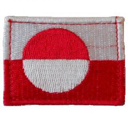 Grønlandsk Flag - på velcro