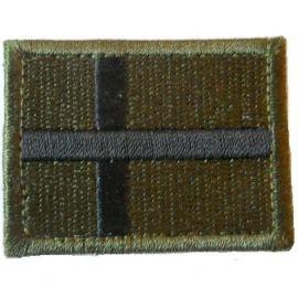 Bornholmsk Flag i Oliven/Sort - på velcro