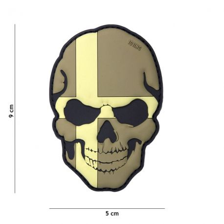 PATCH 3D PVC SKULL SWEDEN SUBDUED