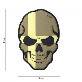 PATCH 3D PVC SKULL DENMARK SUBDUED