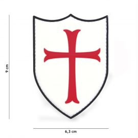 PATCH 3D PVC CRUSADER WHITE