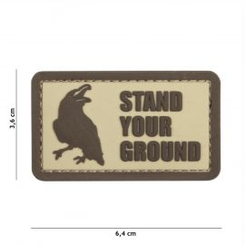 PATCH 3D PVC STAND YOUR GROUND COYOTE