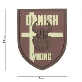 PATCH 3D PVC DANISH VIKING BROWN