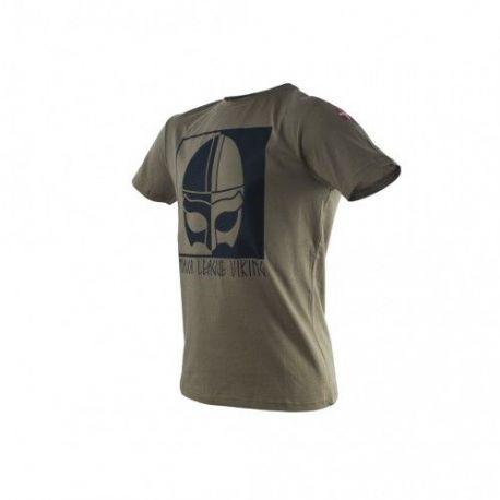 Major League Viking T-shirt med Hjelm og Dannebrog, MTS-Khaki