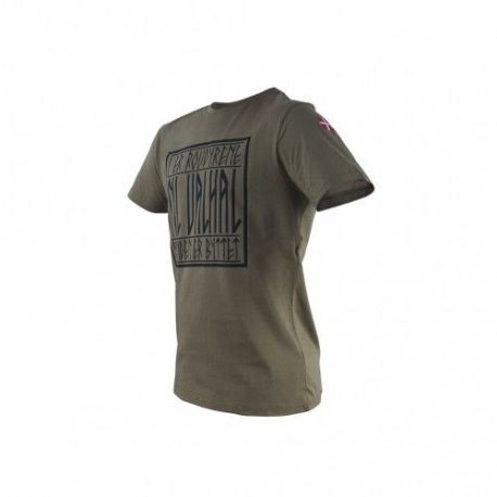 Major League Viking T-shirt TIL VALHAL og Dannebrog, MTS-Khaki