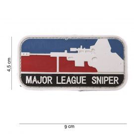 Major League Sniper 3D PVC Patch (Rød/hvid/blå)