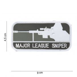 Major League Sniper 3D PVC Patch (Sort/grå)