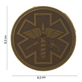 PATCH 3D PVC PARA MEDIC, BROWN