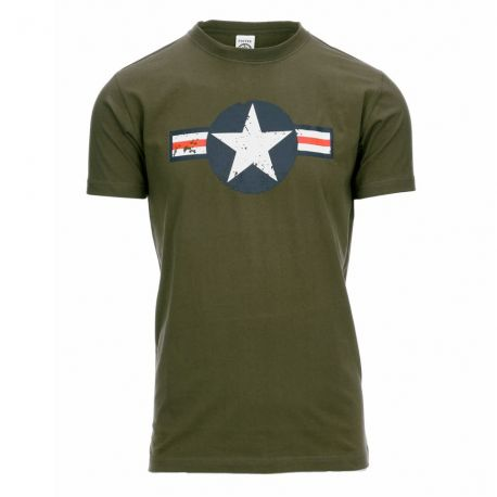 T-shirt - USAF WW-II, Oliven