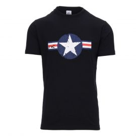 T-shirt - USAF WW-II, Sort