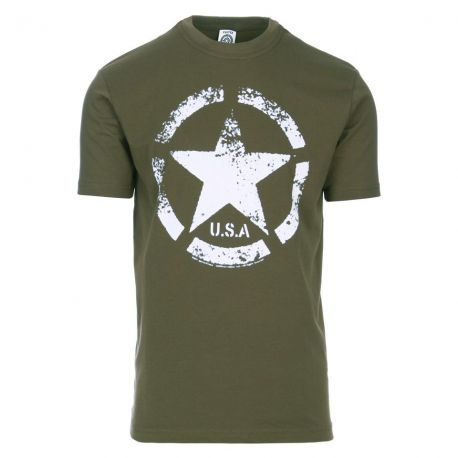 T-shirt - US ARMY Star, Oliven
