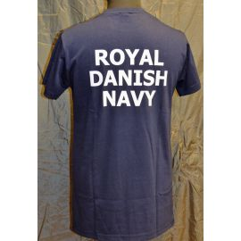 RAVEN - T-shirt, Navy Blue with ROYAL DANISH NAVY print