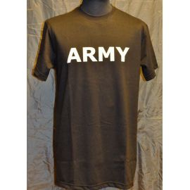MLV - T-shirt, sort med ARMY tryk på bryst