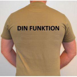 RAVEN - T-shirt, MTS-khaki - med FUNKTION tryk på ryg
