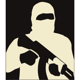 Reshet Graf - Thermal Target, Half Man AK-47 (46x48cm)