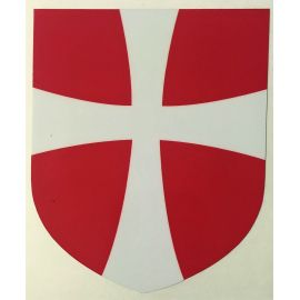 Dansk Mantova Kors, Klistermærke til vindue