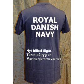 RAVEN - T-shirt, Marineblå med MARINEHJEMMEVÆRNET tryk på ryg