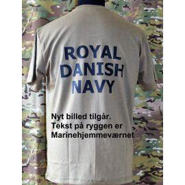 RAVEN - T-shirt, MTS-khaki - med MARINEHJEMMEVÆRNET Print
