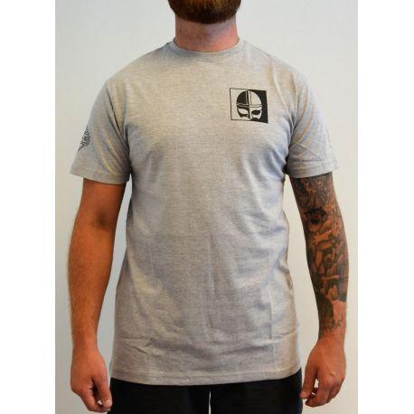 Major League Viking - T-Shirt og lille Vikingtryk, Lysegrå