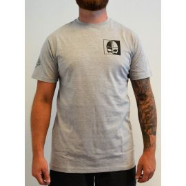 Major League Viking - T-Shirt with Small Viking Print, Light Gray