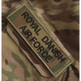 Royal Danish Airforce ærmemærke, MultiCam på velcro